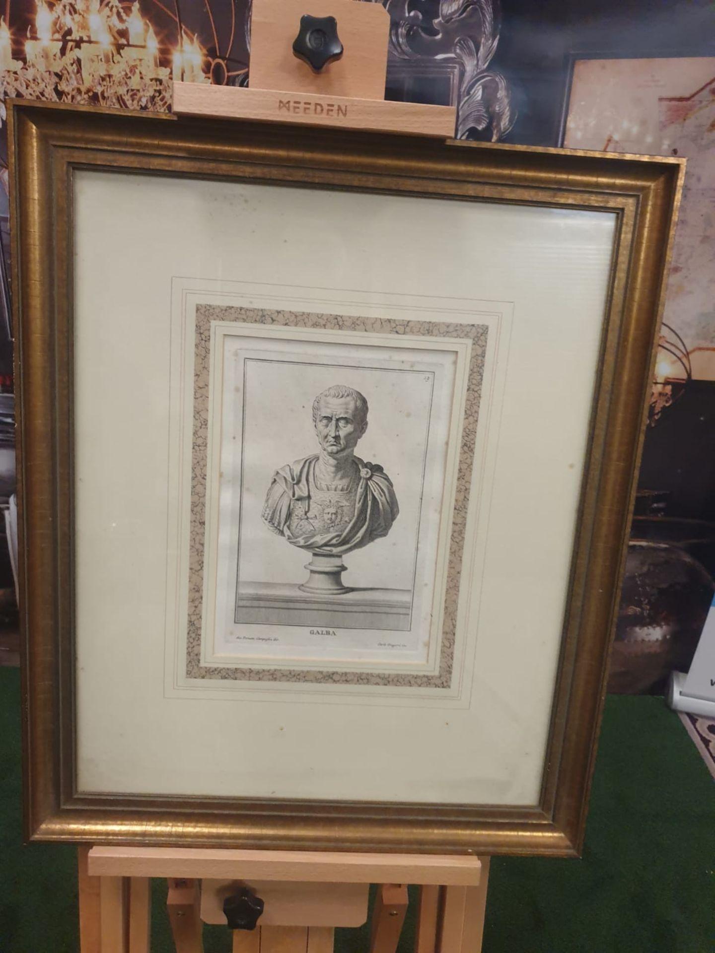 3 x framed prints comprising of Carlo Gregori after Giovanni Domenico Campiglia Galba, Roman