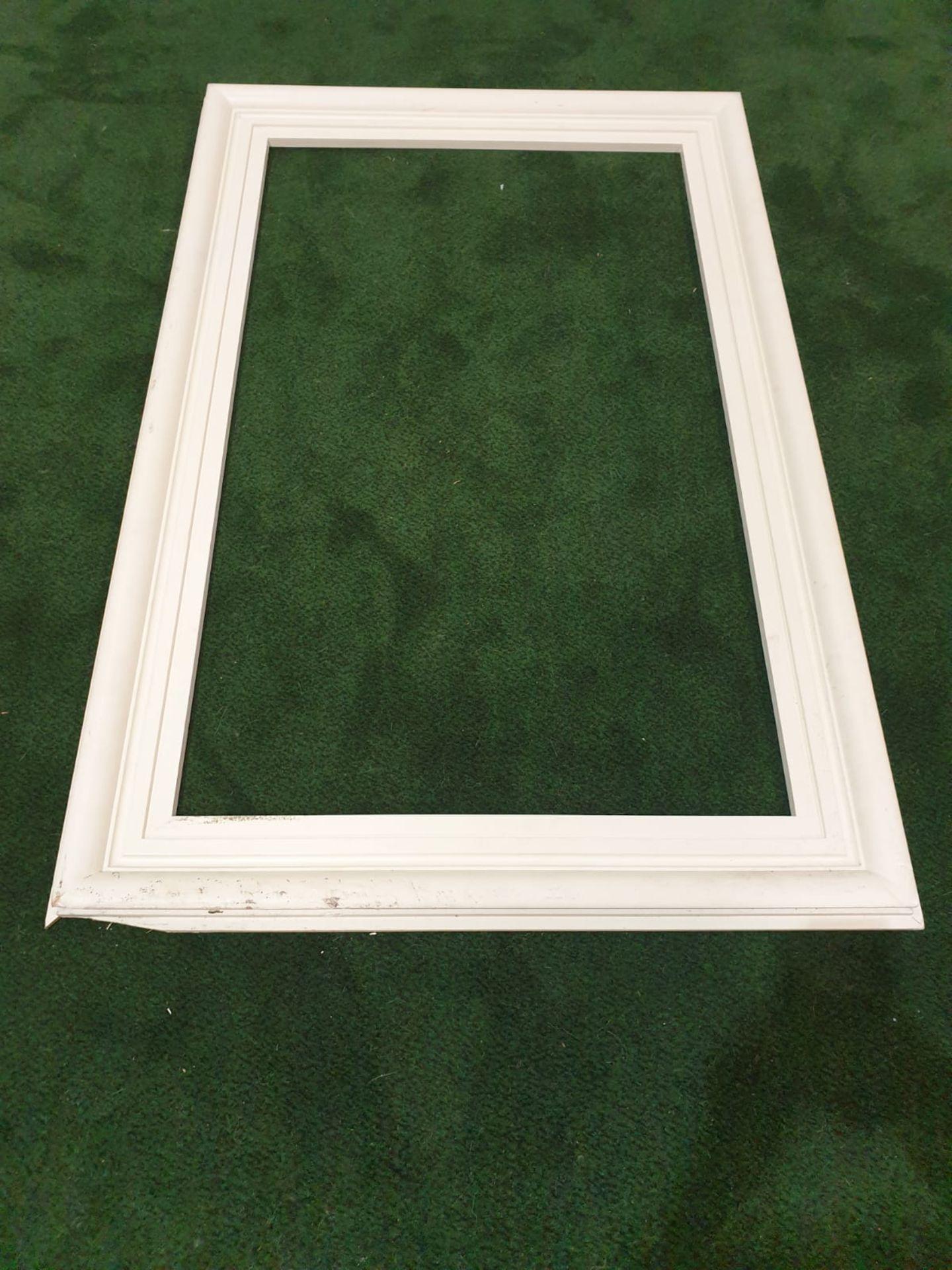 White picture frame 98 x 148cm