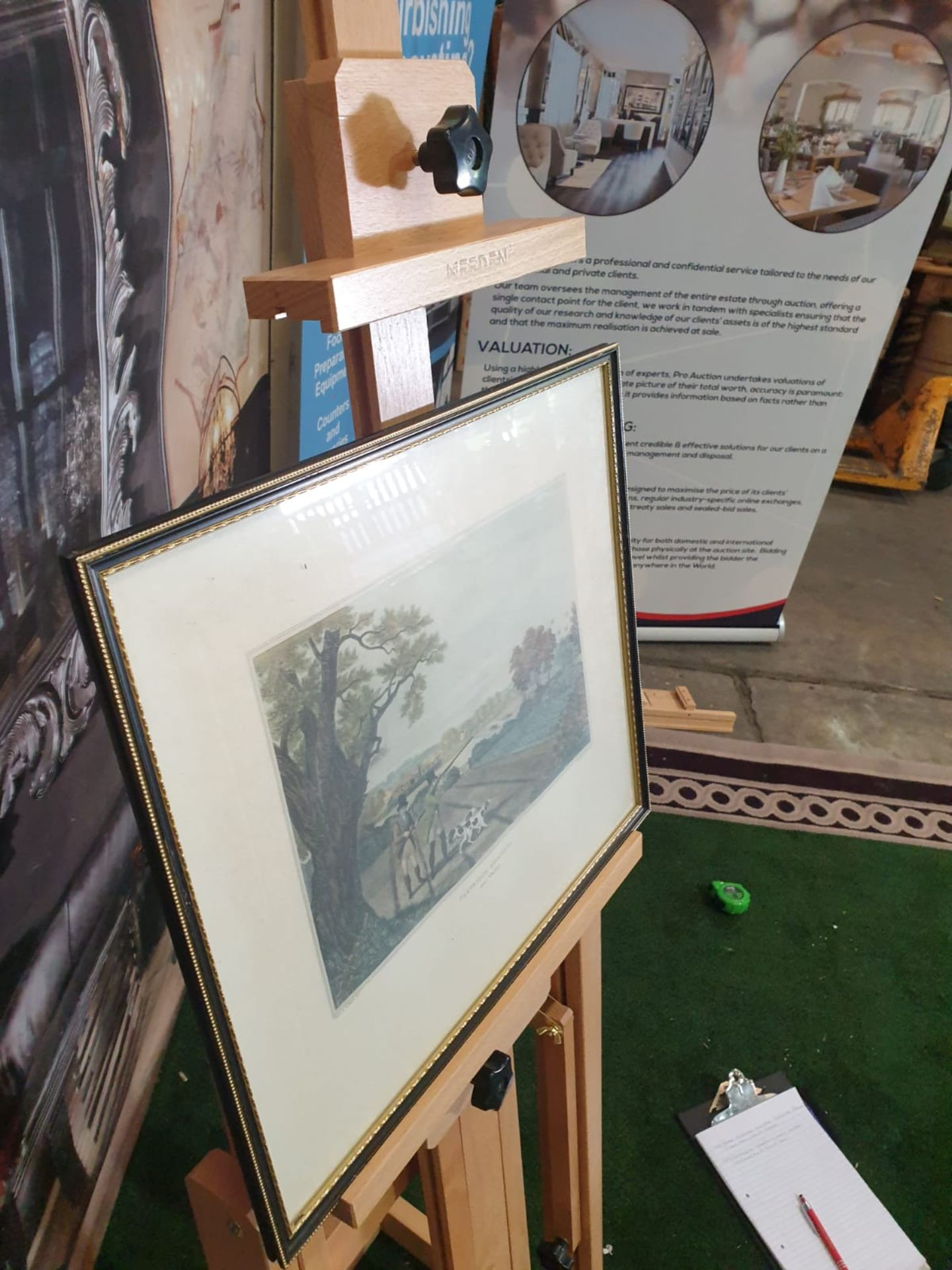 Framed vintage aquatint Partridge shooting near Windsor. HAVELL Jr., Robert. Publisher: J Brooker - Image 3 of 5