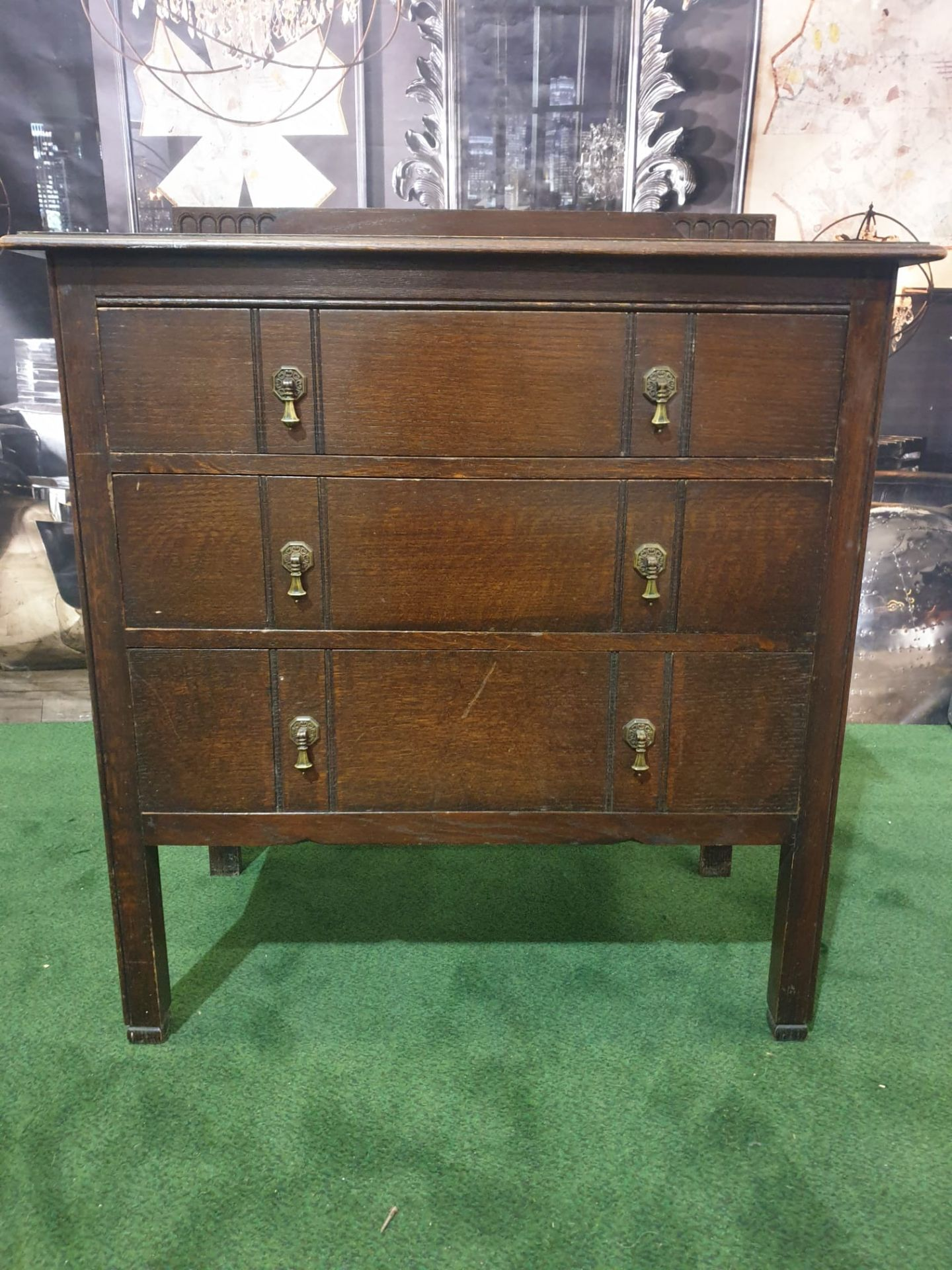 Late Georgian Mahogany Chest Of Drawers three Drawer chest 84W x 46D x 95H - Image 3 of 5