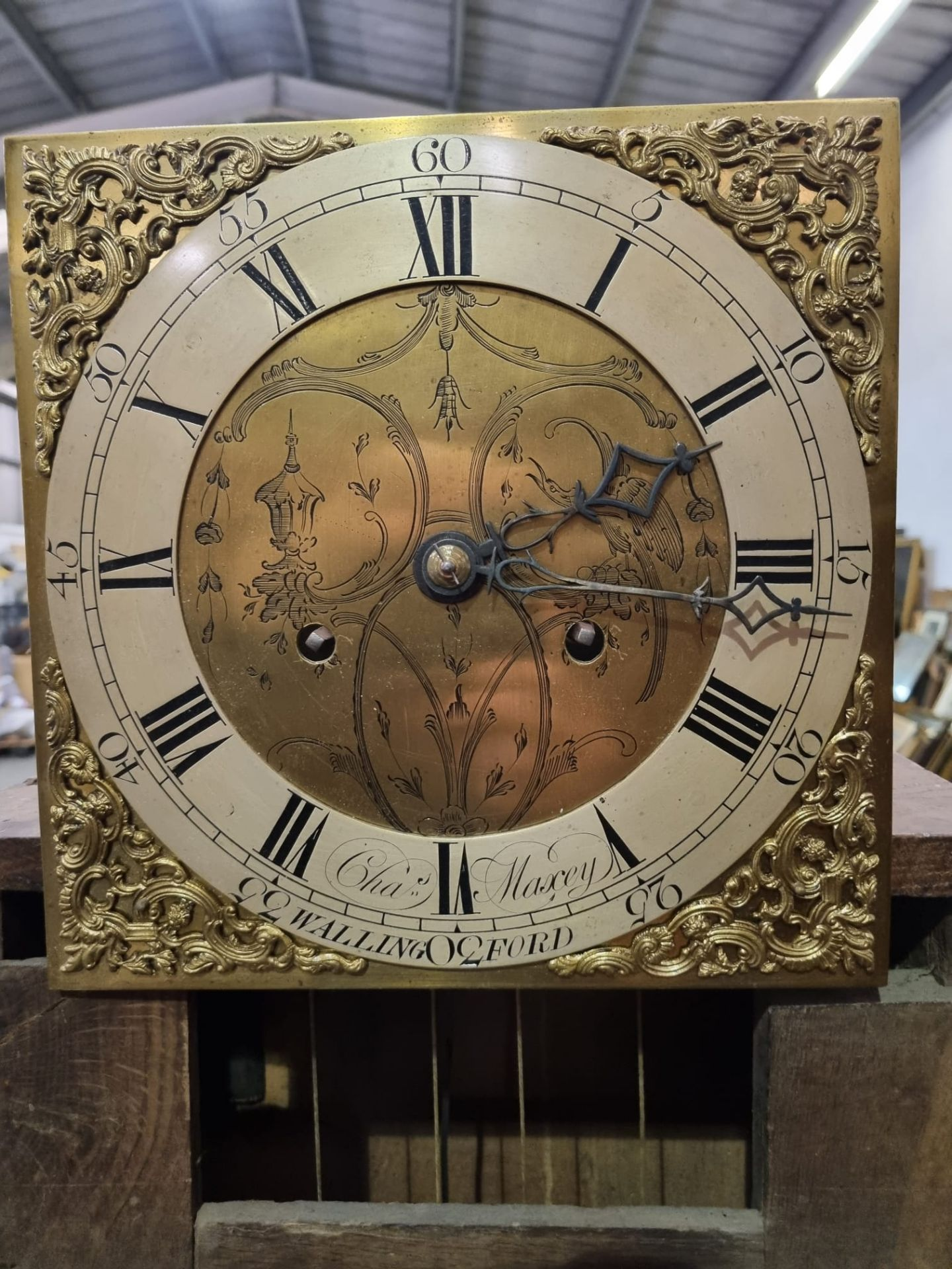 Provincial, mahogany or mahoganized oak, two weight, eight day time and hourly striking longcase - Image 6 of 8