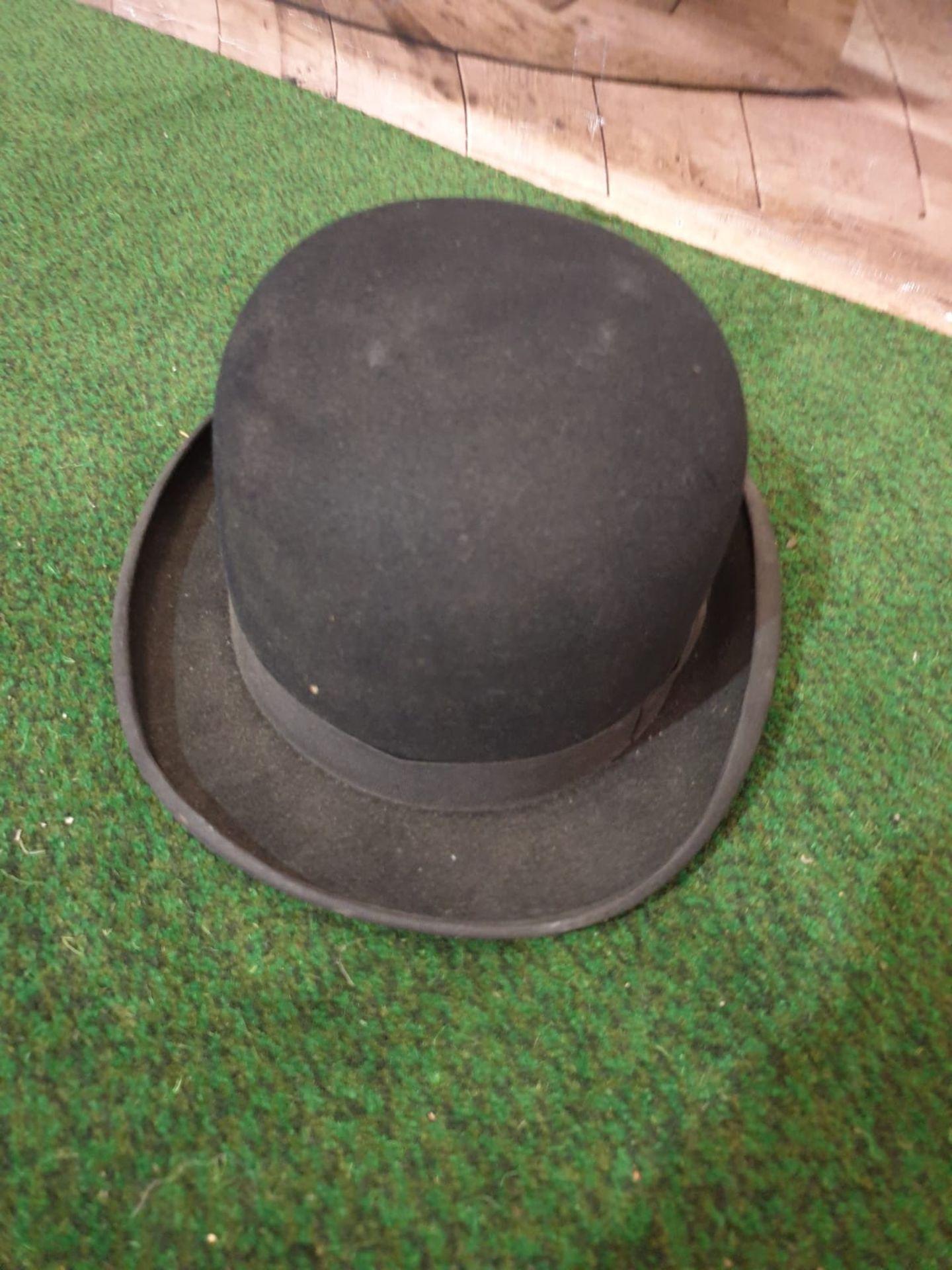 Vintage Dunns & Co London mens black bowler hat