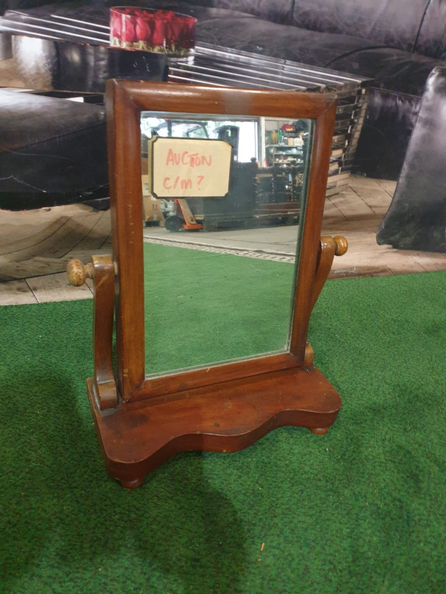 Vanity Mirror, English, Victorian circa 1850 This is a lovely mirror, that is full of age and charm,