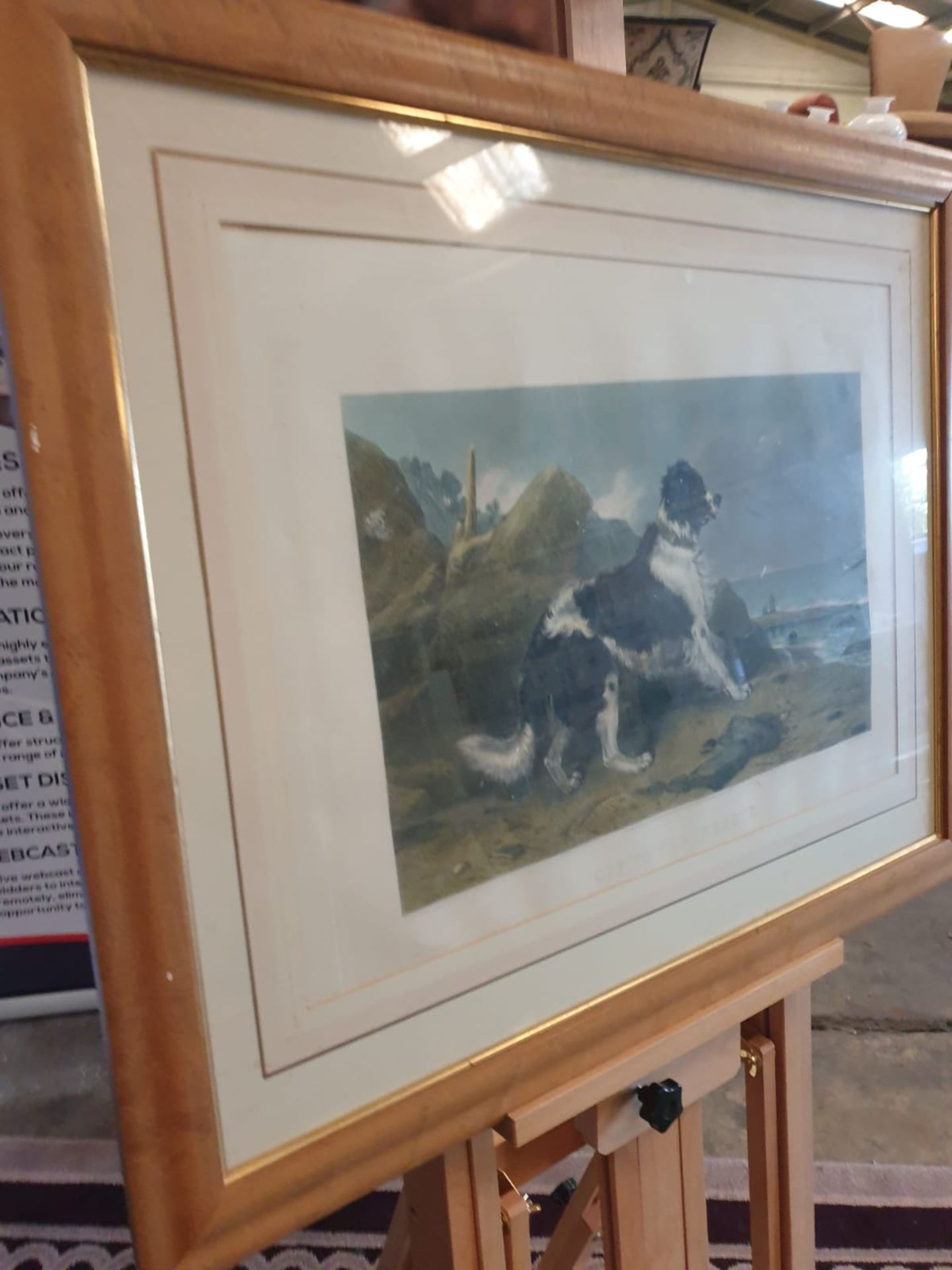 Hand coloured Engraving, Framed LUCAS ALFRED After Sir Edwin Landseer, 'off To The Rescue', 85 x - Image 2 of 5
