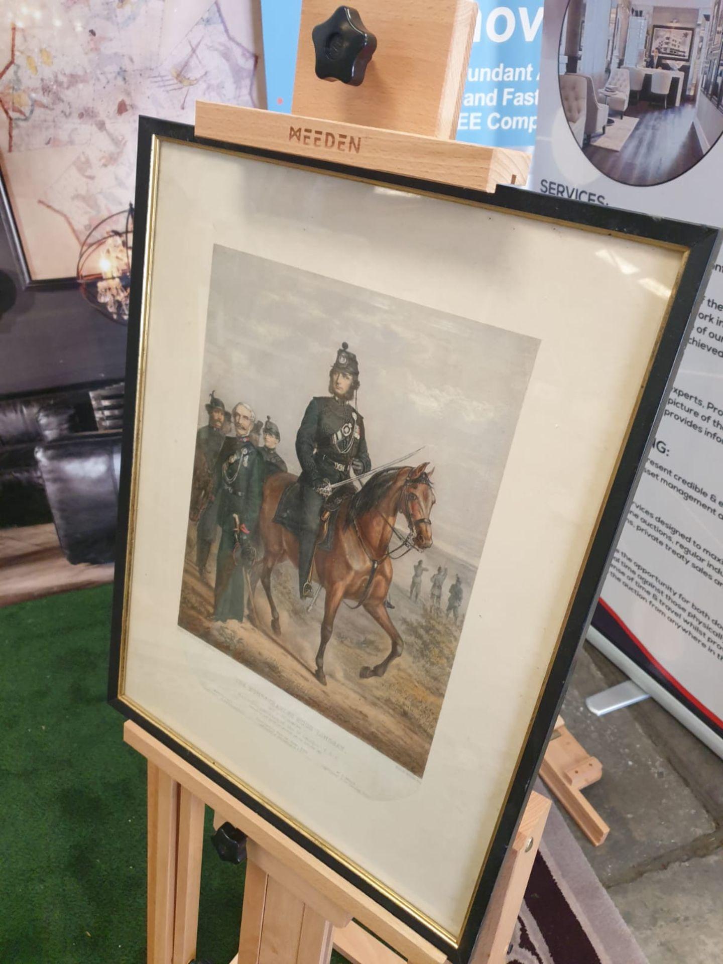 Framed Coloured Print Portrait Of The Honourable Charles Hugh Lindsay Major Commandant Of The St - Image 2 of 3