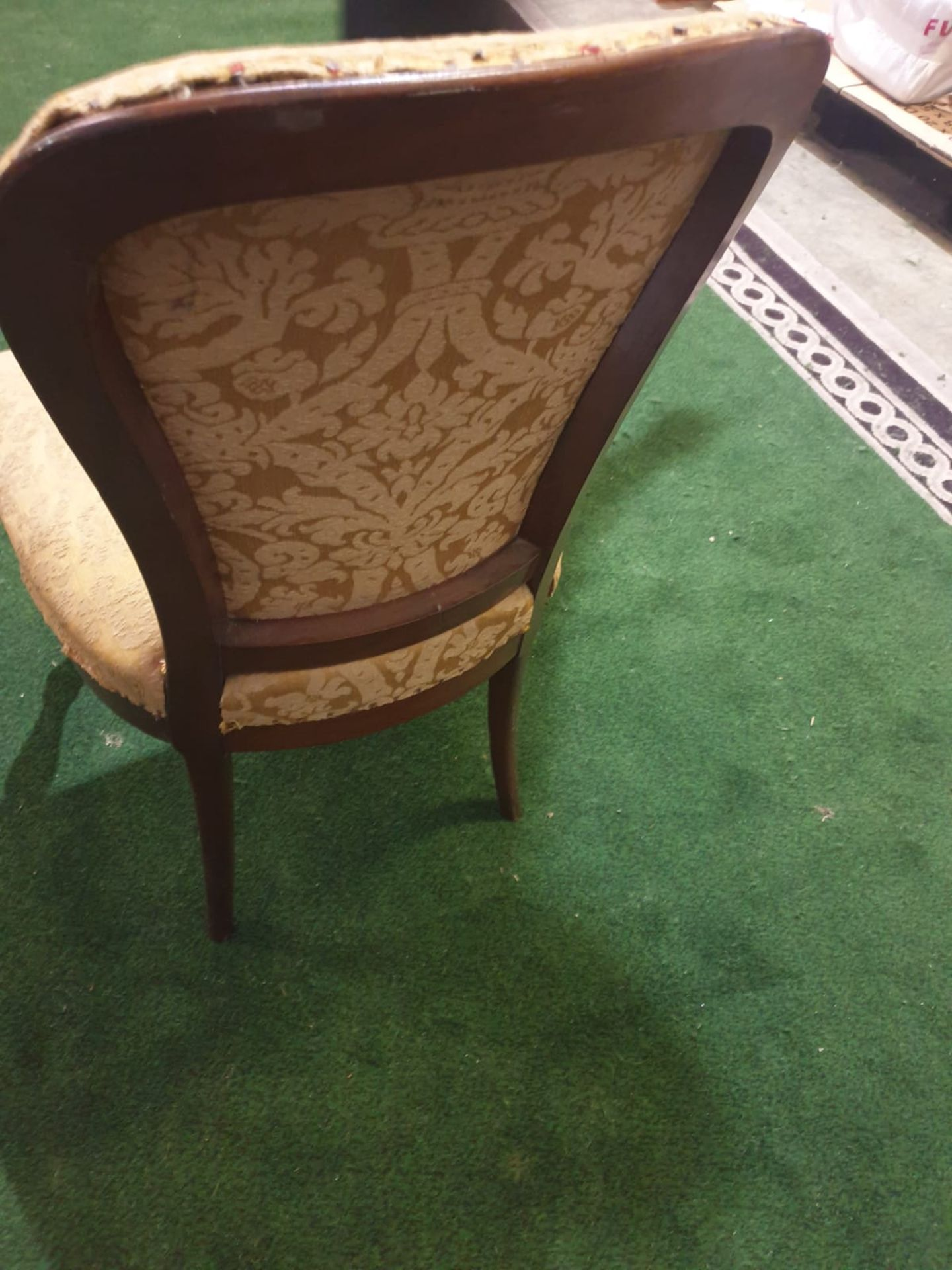 A pair of George III mahogany and upholstered side chairs Each with a rounded shaped padded back and - Image 4 of 4