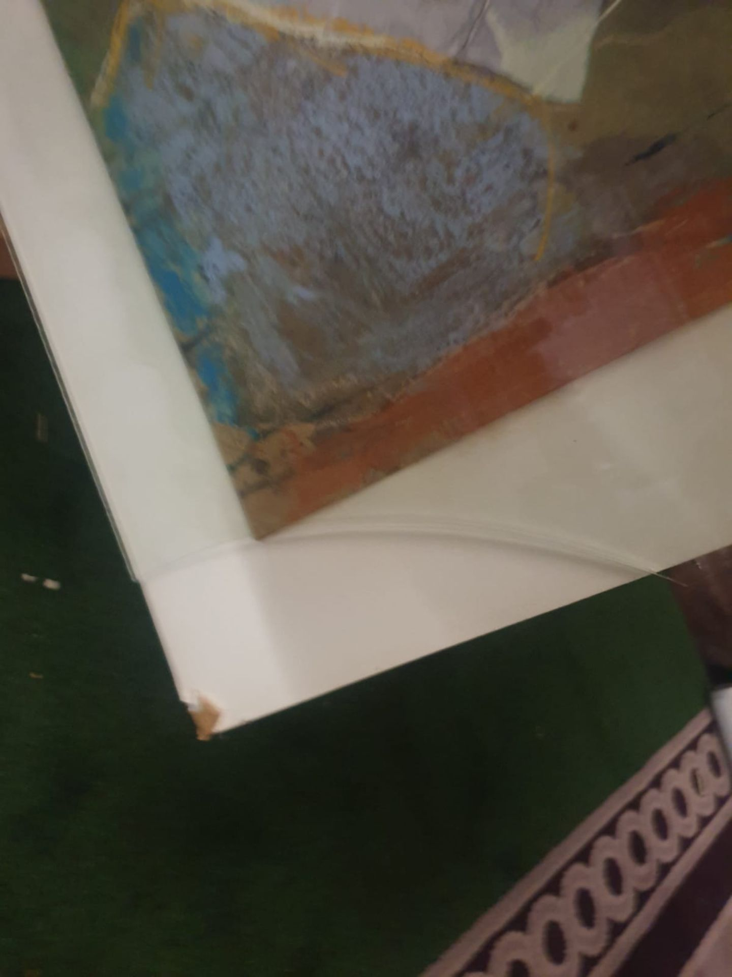 Tamsen Louise Croft - Treikcliff 1991 framed Mixed media on paper label verso reads purchased - Image 5 of 5