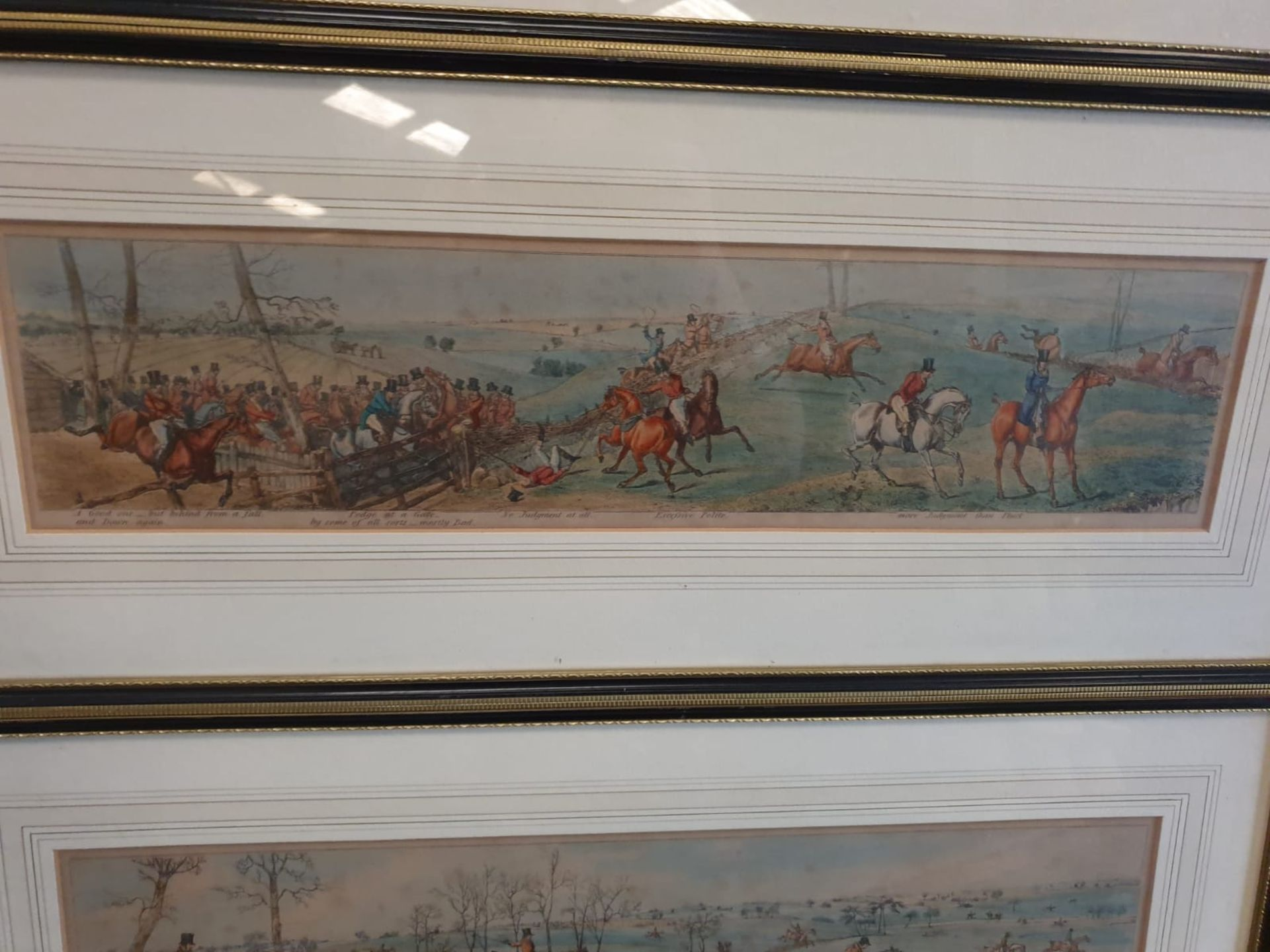A set of 3 framed coloured panorma Hunters prints titled Lets take the road, Excersive polite, A - Image 5 of 6