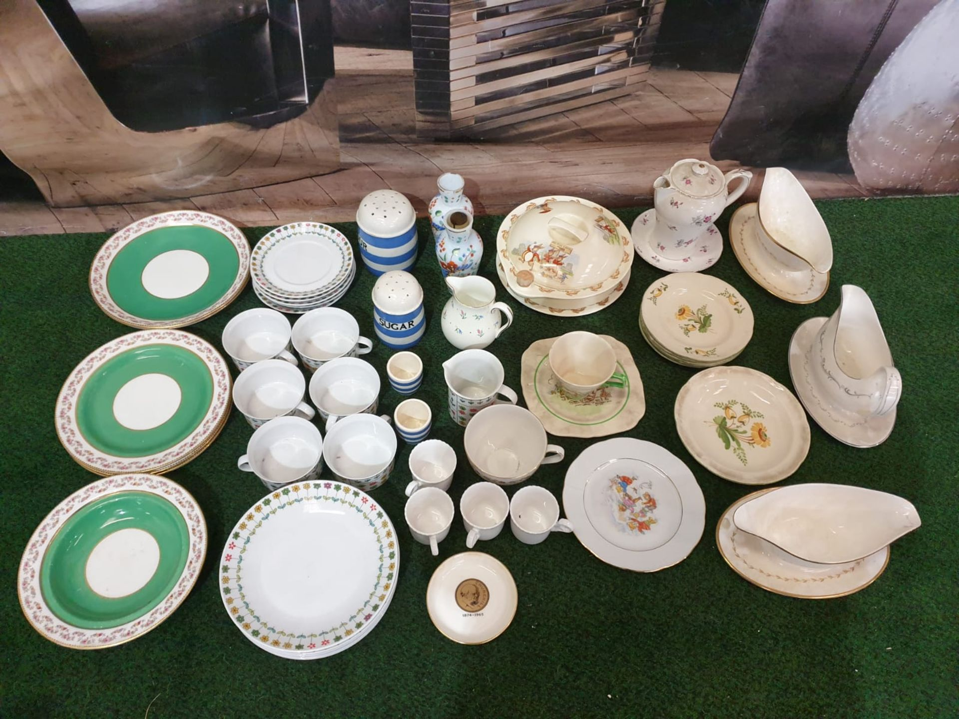 A Large quantity of tableware various patterns and manufacturers including Royal Doulton, Shelley, H - Image 3 of 15