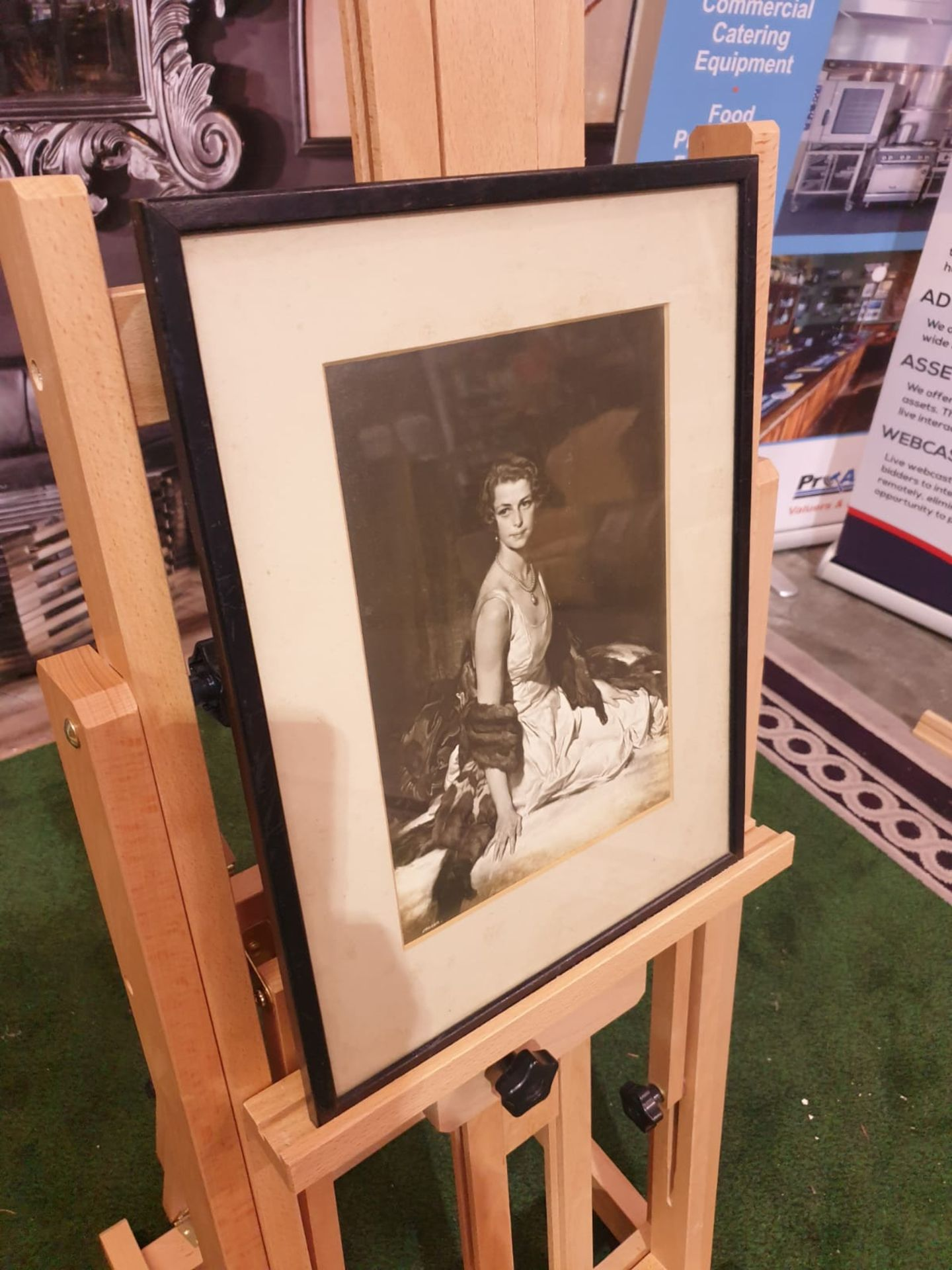 Black and white framed photoprint Portrait of Lady Evelyn Margaret Mason formerly Lindsay Born 8 May - Image 3 of 3