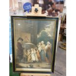 Framed Print The Showman, La Piece Curieuse Thomas Gaugain after J. Barney from a Stipple