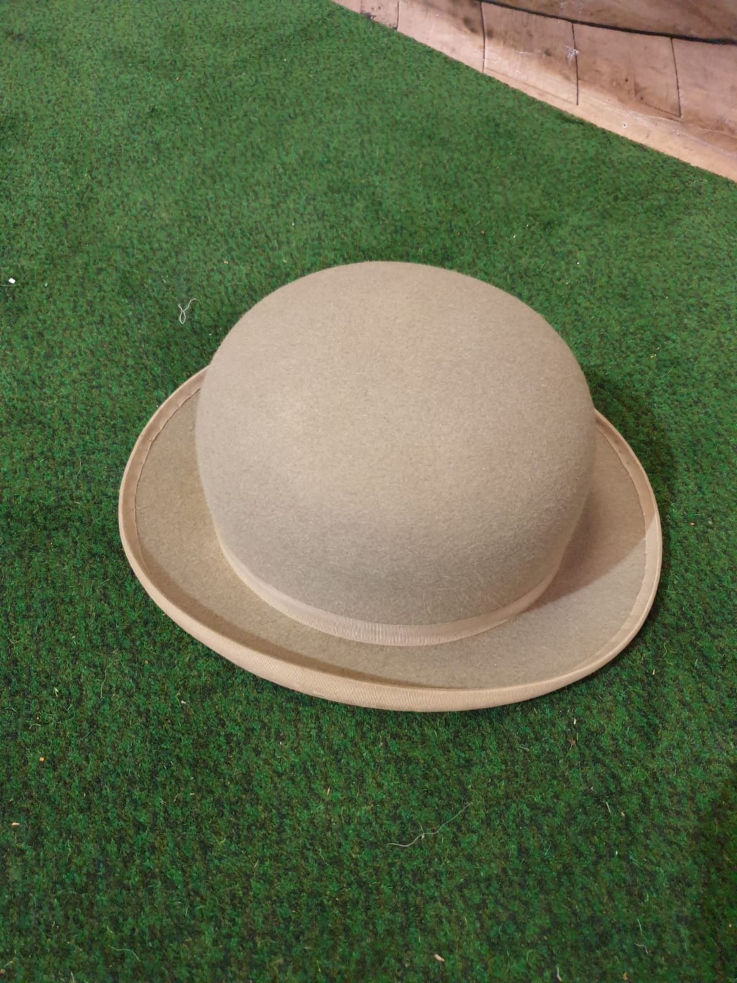 A grey bowler hat by Lock & Co London in Harmans card box