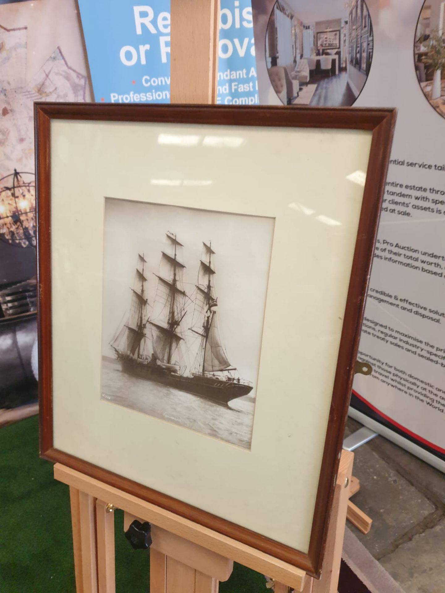 Sailing vessel Valhalla. Photograph. Initialled and numbered lower left, titled to the centre and - Image 3 of 4