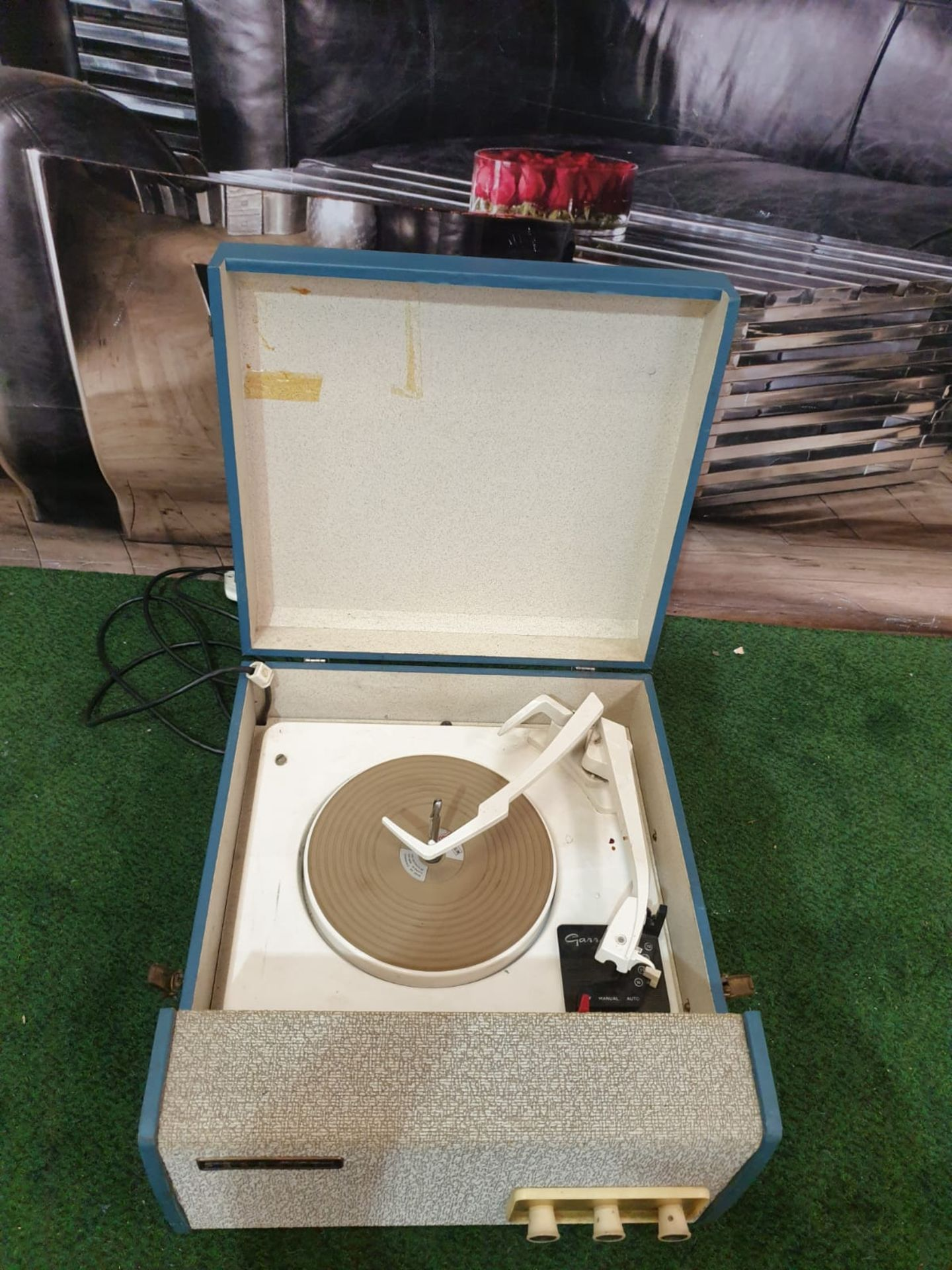 Travel record Player Blue Case Made By Ferranti Circa 1958 Ferranti or Ferranti International plc - Image 2 of 3