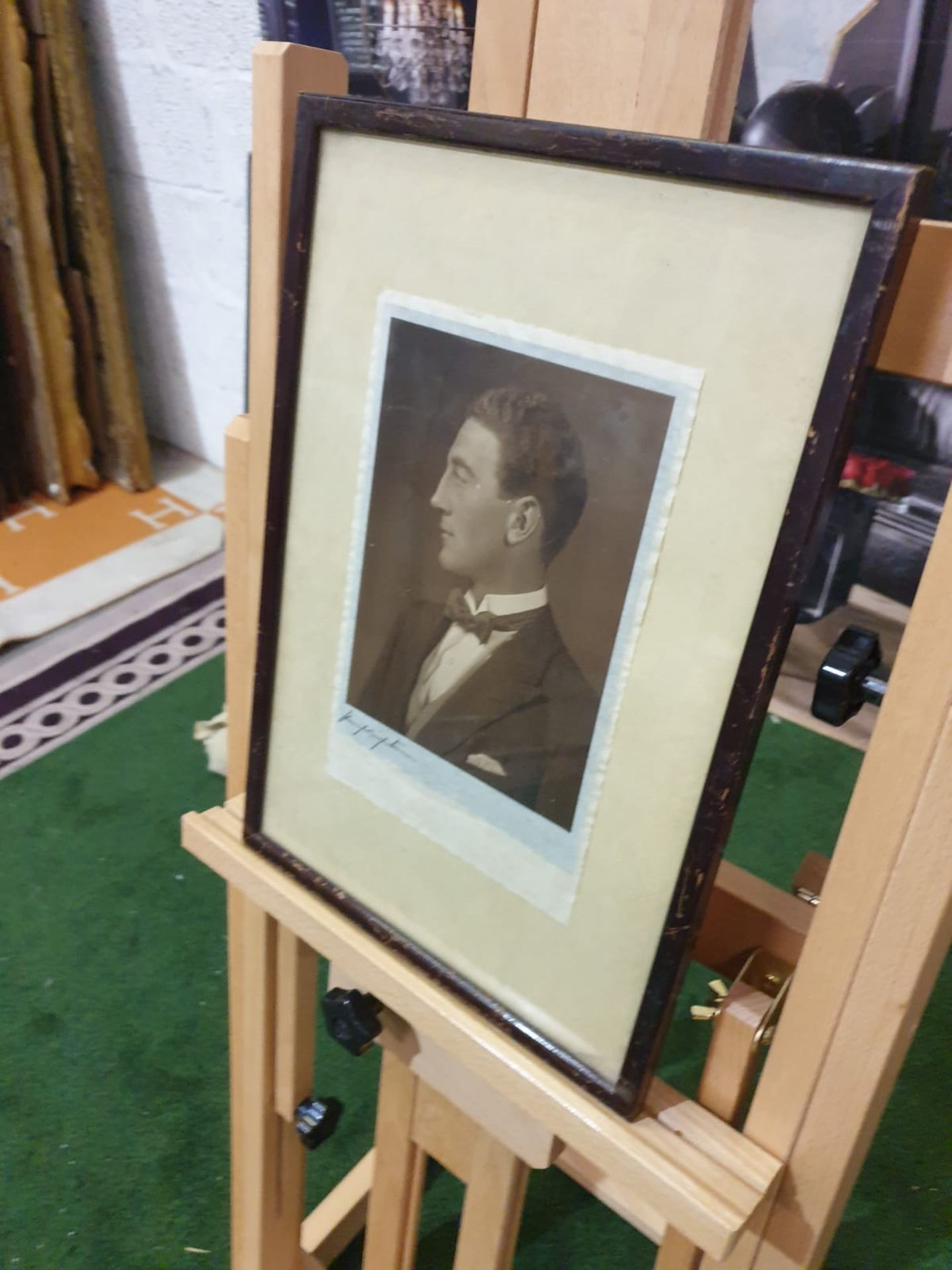 Aquatint print Portrait of well dressed gentleman 28 x 40cm - Image 2 of 4
