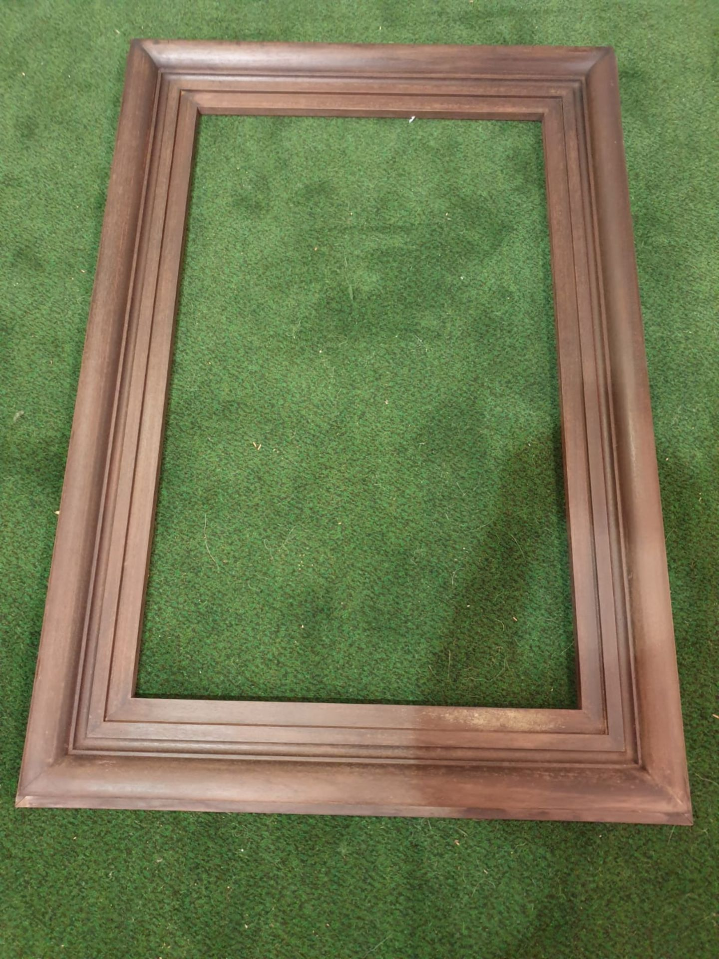 Brown picture frame 80 x 116 cm - Image 2 of 2