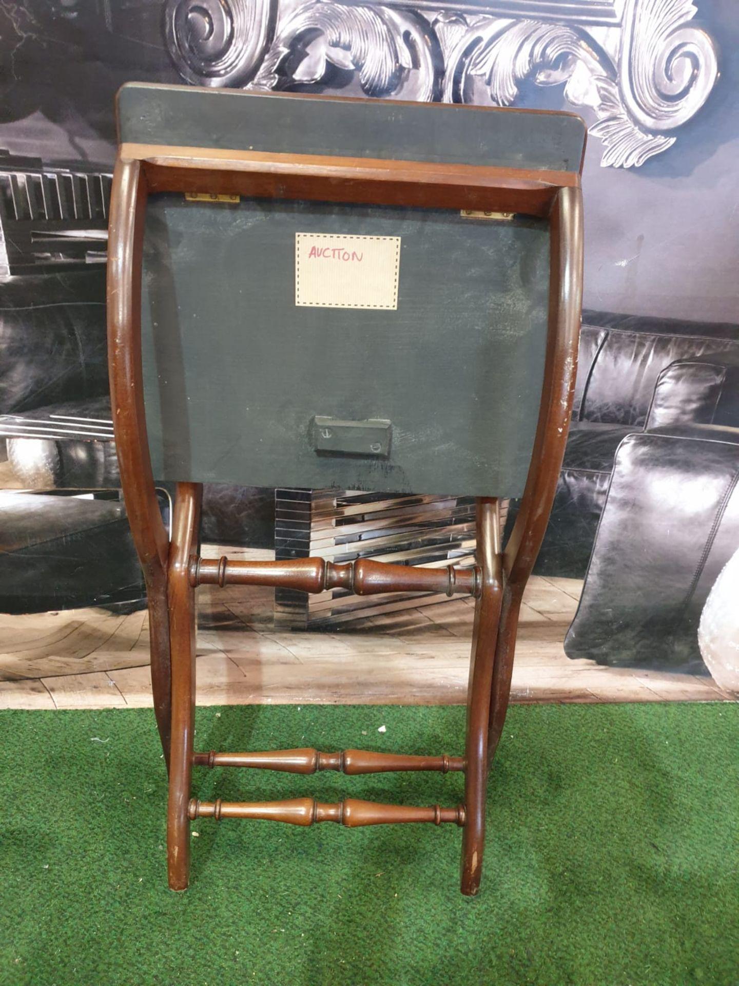 A polished mahogany folding table 76 x 43 x 49cm (Nb bar latch missing) - Image 5 of 5