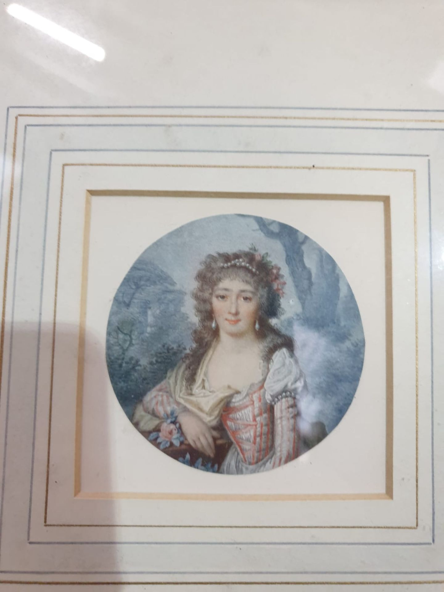 A set of 7 x framed portraits of Ladies & Gentlemen in period dress - Image 9 of 9