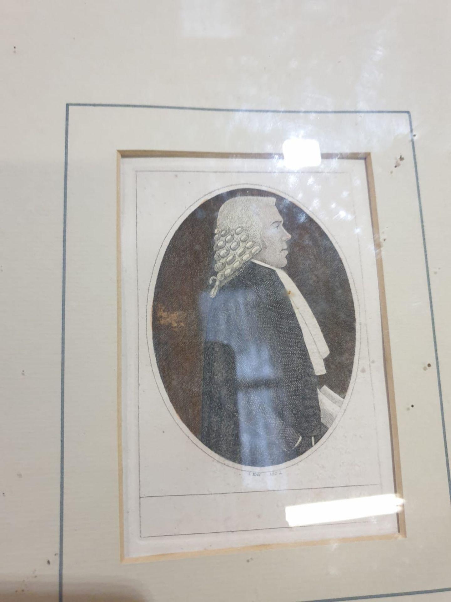 A set of 4 framed John Kay coloured prints of etchings Law gentlemen Lord Balmuto by John Kay, 1799, - Image 5 of 5