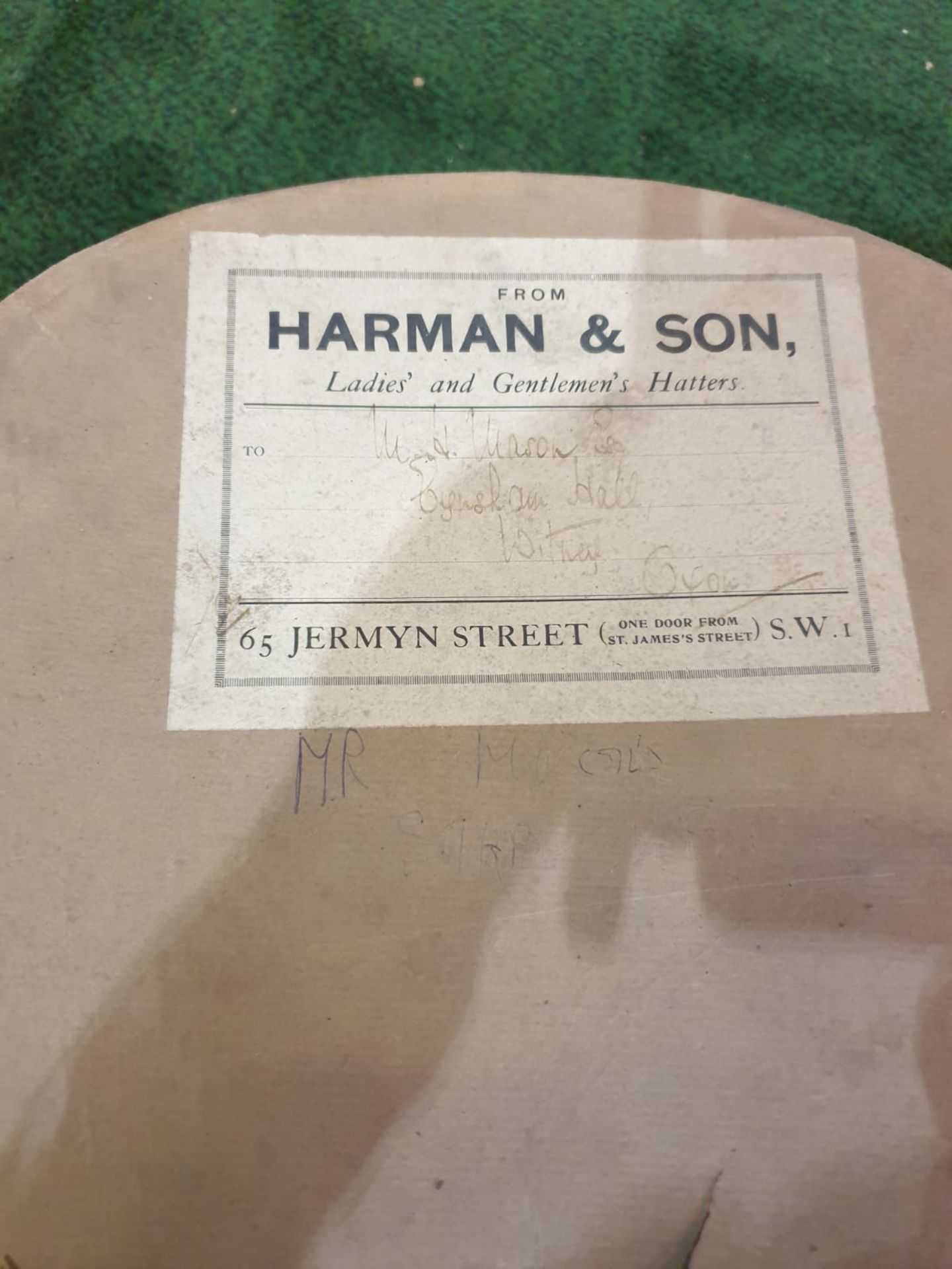 A grey bowler hat by Lock & Co London in Harmans card box - Image 5 of 5