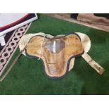 Vintage Leather saddle with Sheepskin liner 70 x 40