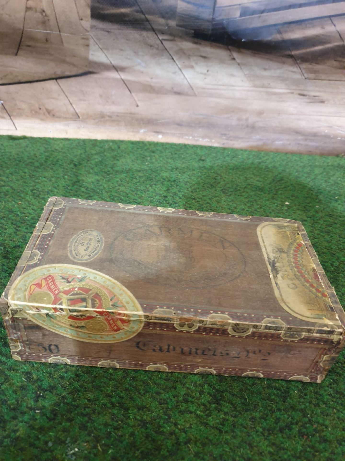 2 x vintage tobacco boxes Antique Players Navy Cut 50 Cigarettes Tin from Player & Sons in
