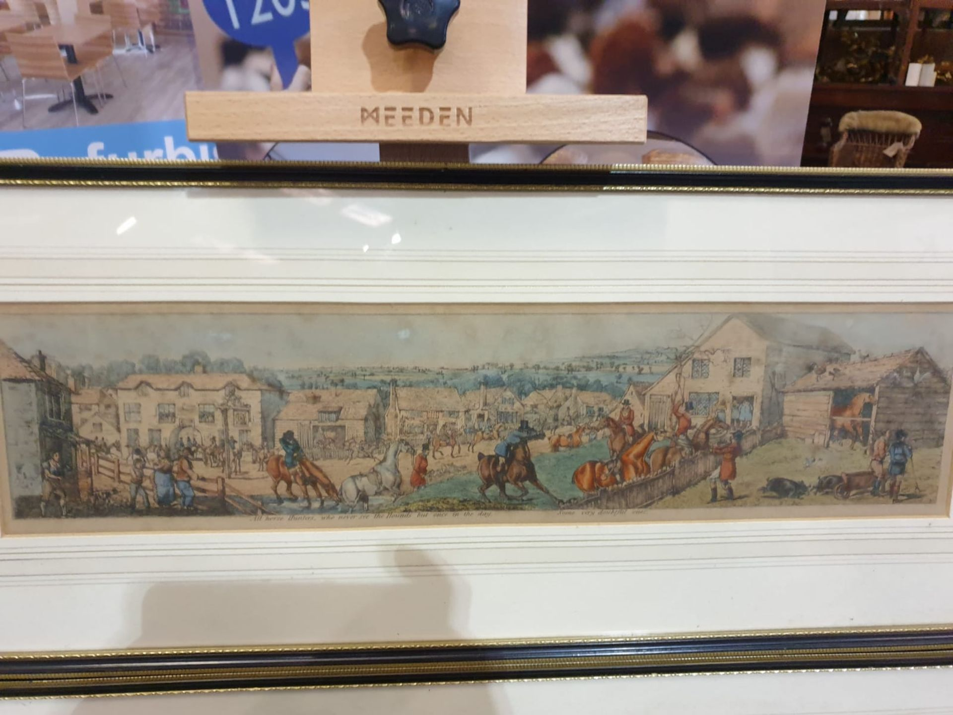 A set of 3 framed coloured panorama Hunters prints titled Stop at anything, Wo-e Wo-e and Some - Image 2 of 4
