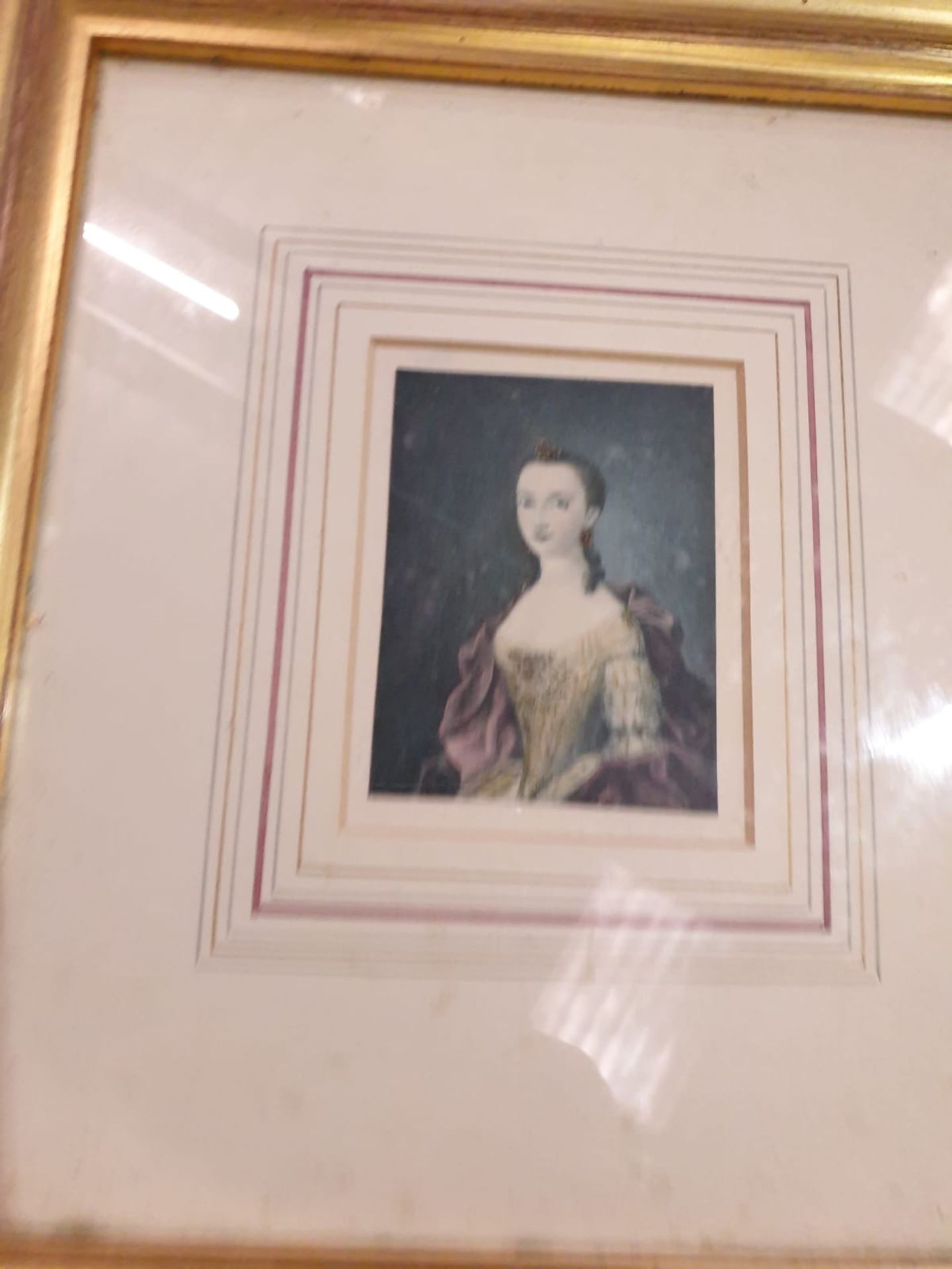 A set of 7 x framed portraits of Ladies & Gentlemen in period dress - Image 7 of 9