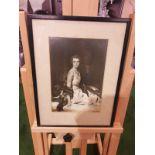 Black and white framed photoprint Portrait of Lady Evelyn Margaret Mason formerly Lindsay Born 8 May