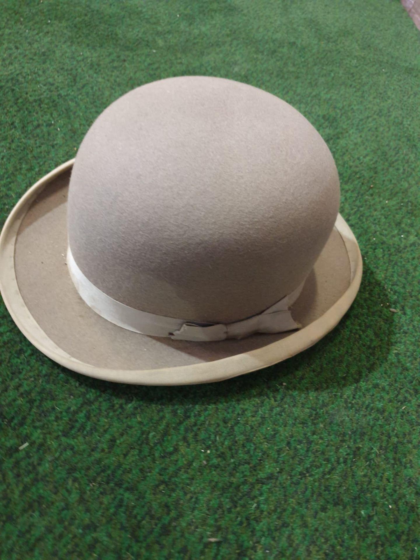 Walter Barnard & Son of Jermyn Street London Grey Bowler hat with cardboard box - Image 2 of 4