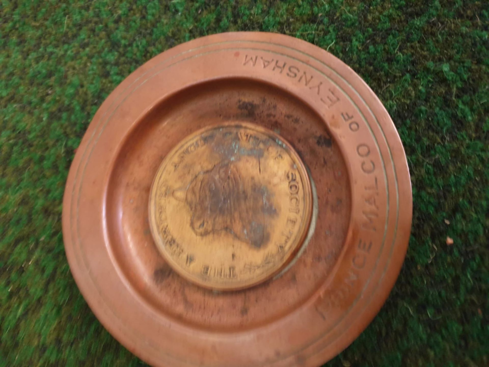 2 x Brass commemorative plates stamped on reverse Coronation 1937 Lechlade Show Epic of Castlecraig, - Image 4 of 7
