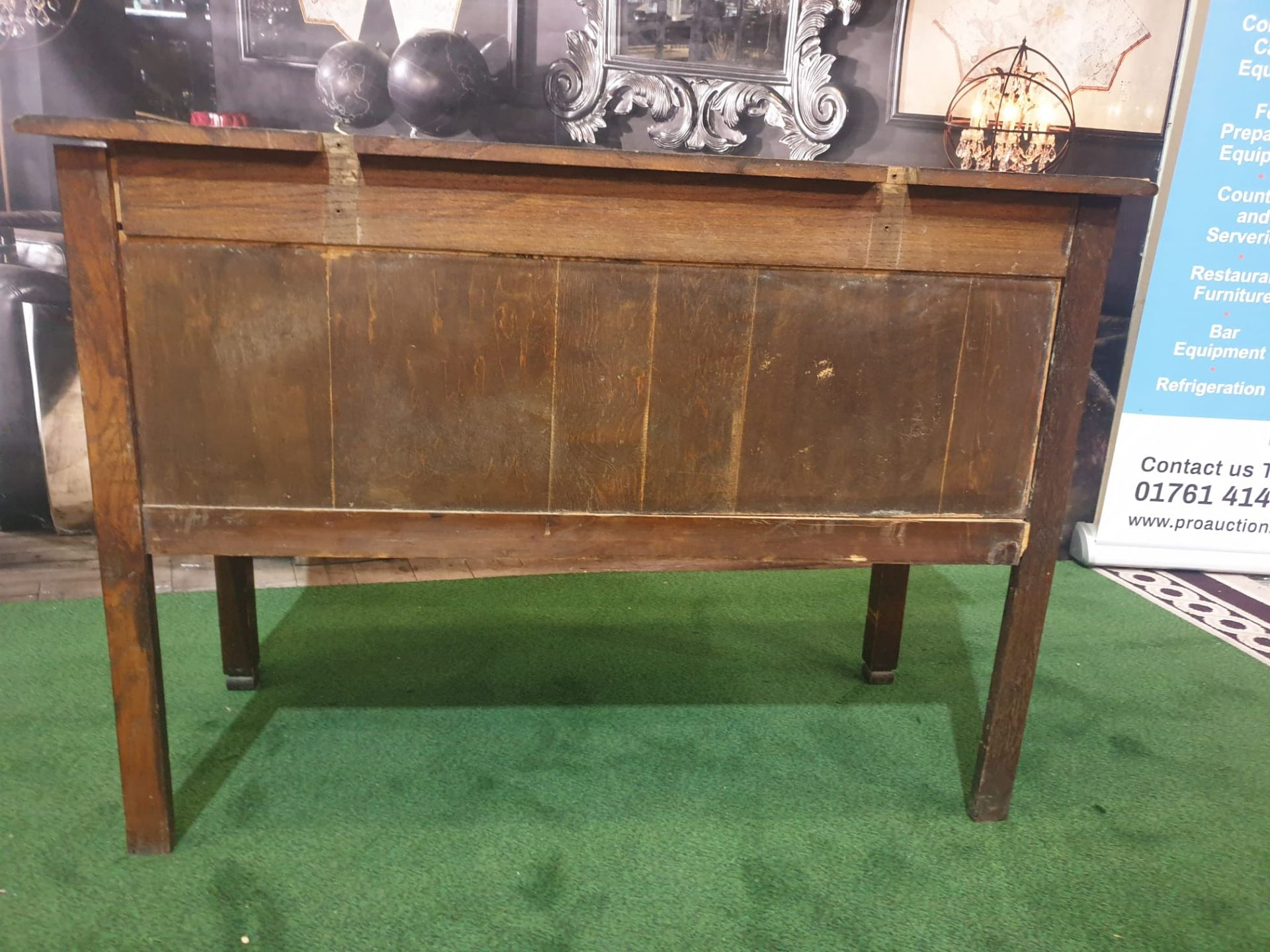 George III style Mahogany Chest of Drawers 2 small drawers over full size single drawer 107w x 47D x - Image 5 of 5