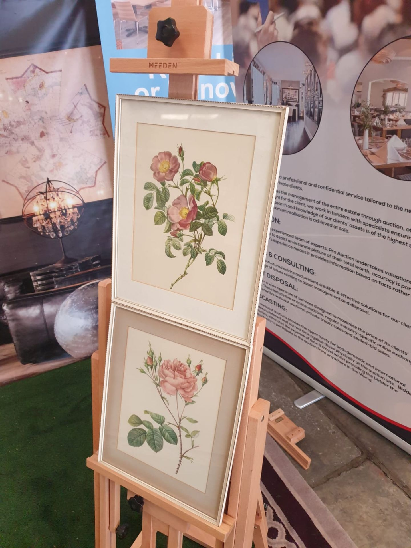 A set of 2 framed coloured prints Rosa Centifolia Anglica Rubra and Rosier de Cumberland by Henry - Image 3 of 3