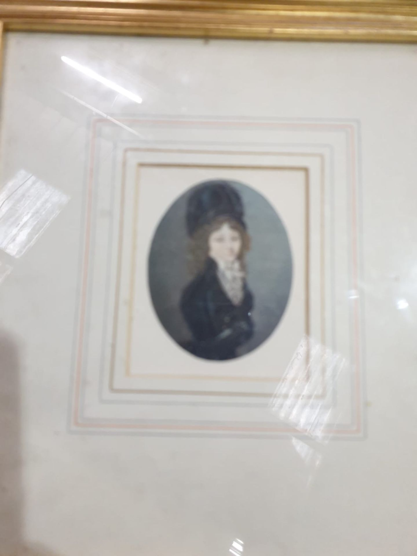 A set of 7 x framed portraits of Ladies & Gentlemen in period dress - Image 3 of 9
