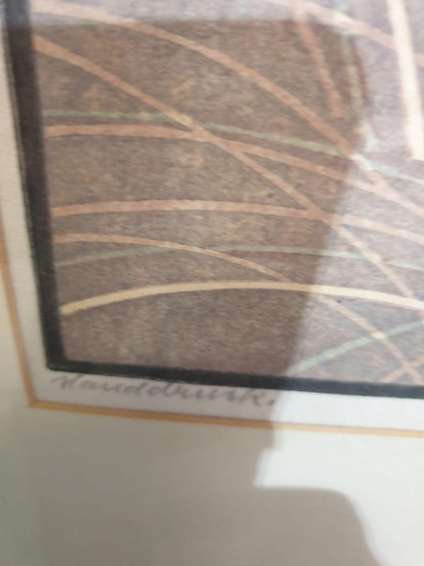 Line cut print multiple by Von Bresslern - Roth 1891-1978 tiger chasing Gazelles c. Circa 1920 - Image 5 of 6