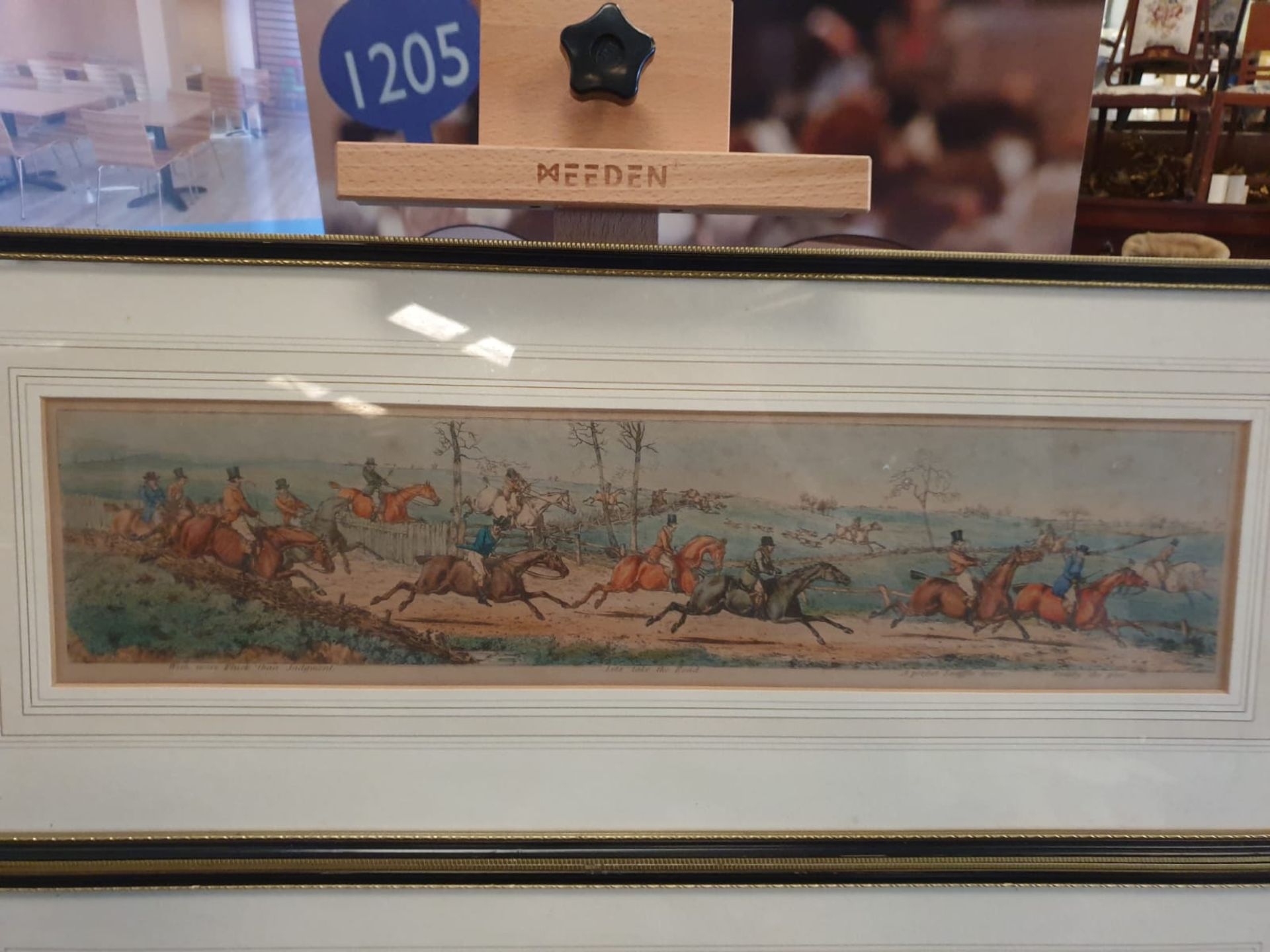 A set of 3 framed coloured panorma Hunters prints titled Lets take the road, Excersive polite, A - Image 4 of 6