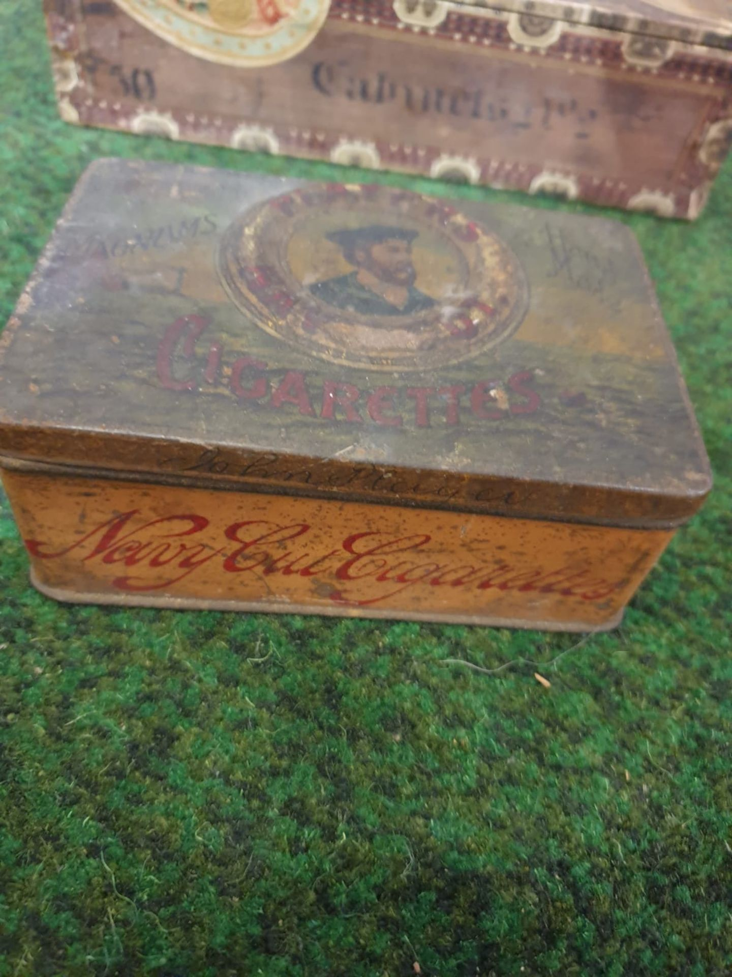 2 x vintage tobacco boxes Antique Players Navy Cut 50 Cigarettes Tin from Player & Sons in - Image 2 of 2
