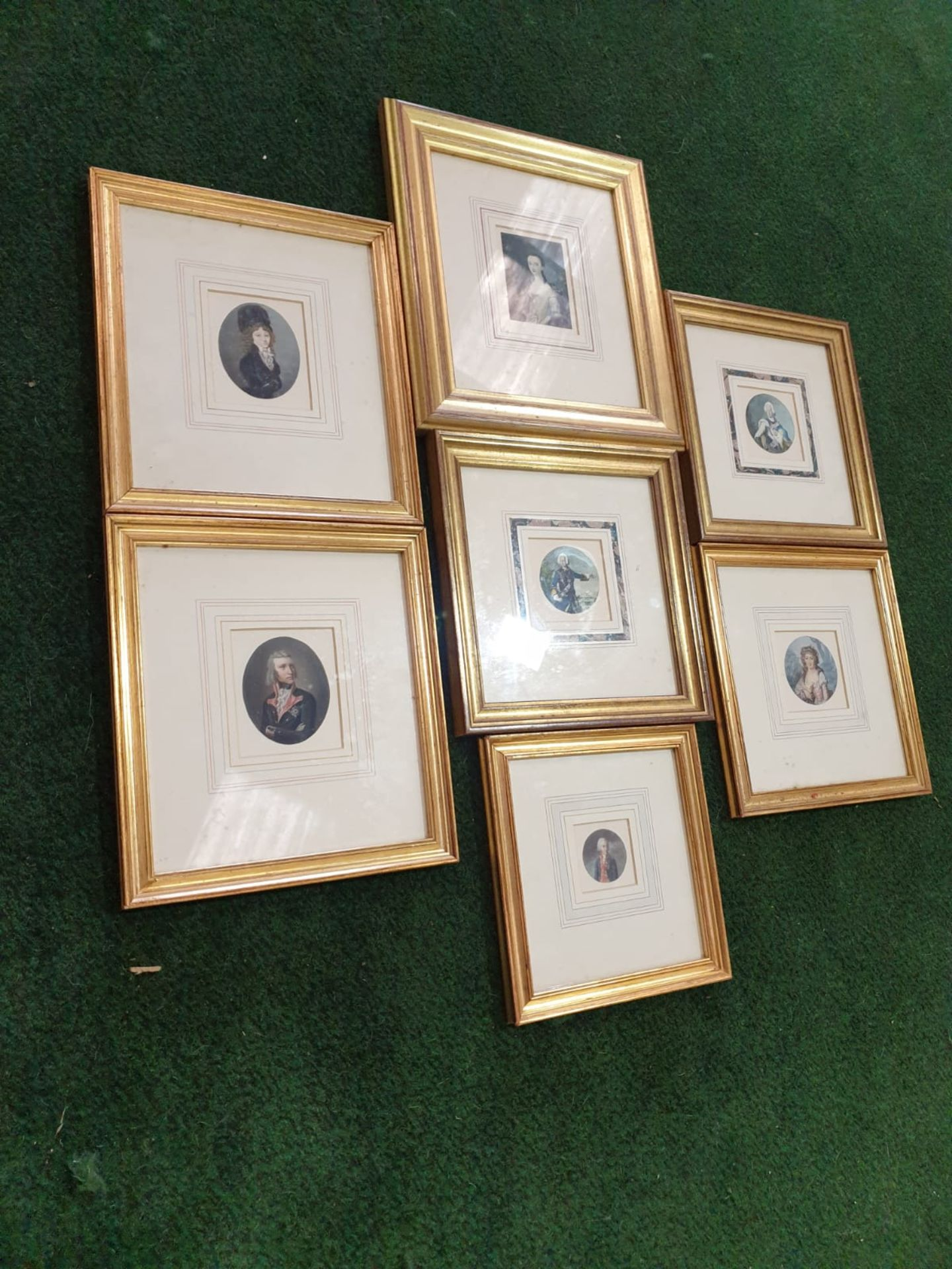 A set of 7 x framed portraits of Ladies & Gentlemen in period dress - Image 2 of 9