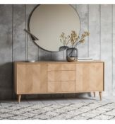 Milano Oak 2 Door 3 Drawer Sideboard Cool And Sleek Milano 2 Door 3 Drawer Sideboard, Featuring A