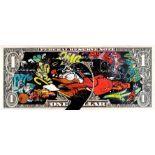 MOABIT ' RUNNING FROM STREET ART'(Scrooge running Trought the dollar )'-2021-ORIGINAL 1/1