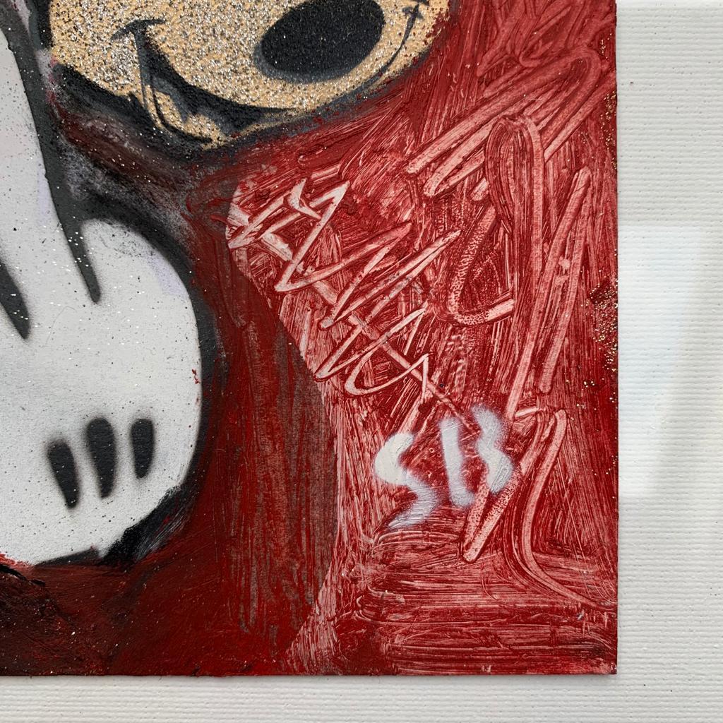 SUPERBEN 'GLITTER MICKIES GESTURING ON RED'-2021 - Image 4 of 4