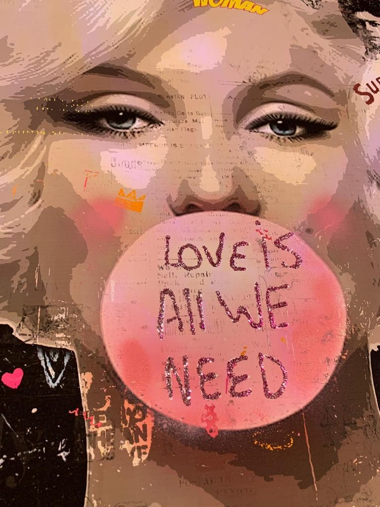 CASPA 'LOVE IS ALL WE NEED' -ORIGINAL 1/1 -2021 - Image 2 of 3