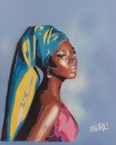 AKORE 'AFRO GIRL WITH PEARL EARRING' -2021