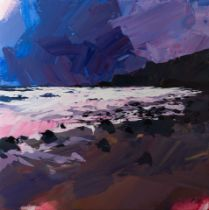JONATHAN PITTS 'WATCHING THE TIDE COME IN, BUDE' -2021 -ORIGINAL 1/1