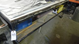 8 FT. ROLLING TABLE w/ CONTENTS