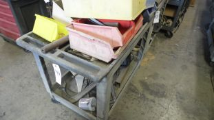 ROLLING CART w/ CLAMPS & HOSES