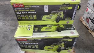 "RYOBI 20"" BRUSHLESS 20"" LAWN MOWERS (NO BATTERIES)(IN BOX) (QTY. 3)"