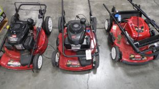 TORO LAWN MOWERS (QTY. 3)