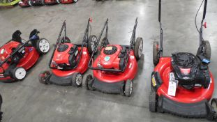 TORO & TROY BILT LAWN MOWERS (QTY. 4)