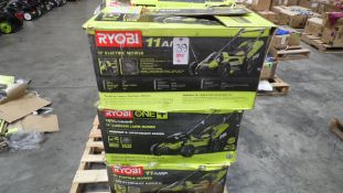 "RYOBI 13"" ELECTRIC MOWER (QTY. 6) (IN BOX) (NO BATTERIES)"